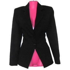 christian dior black wool blazer jacket size 4